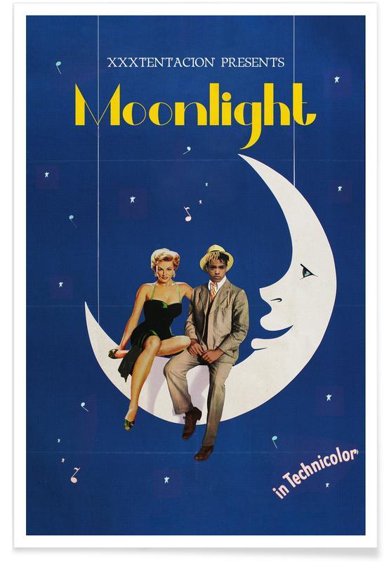 Vintage, Pop Art, Moonlight Poster