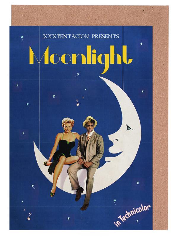 Vintage, Pop Art, Moonlight cartes de vœux