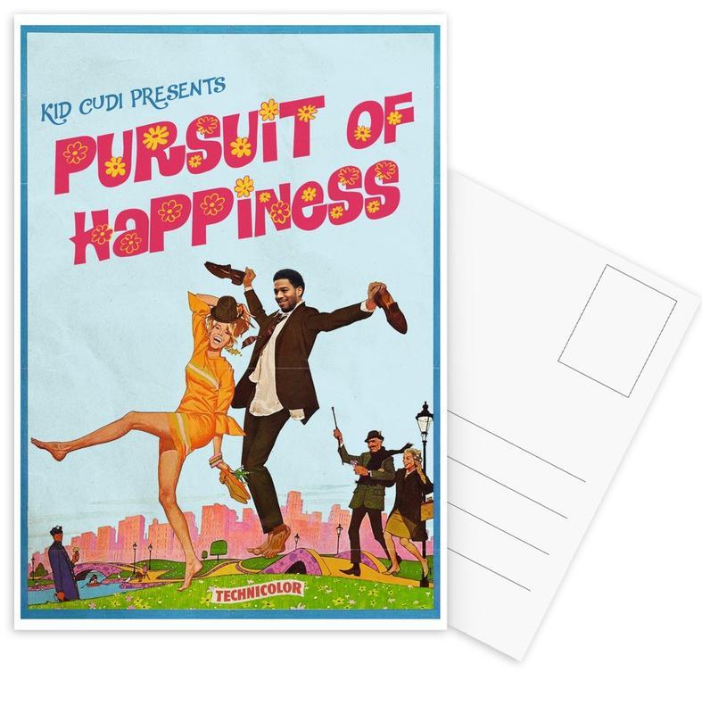 Popart, Vintage, Pursuit ansichtkaartenset