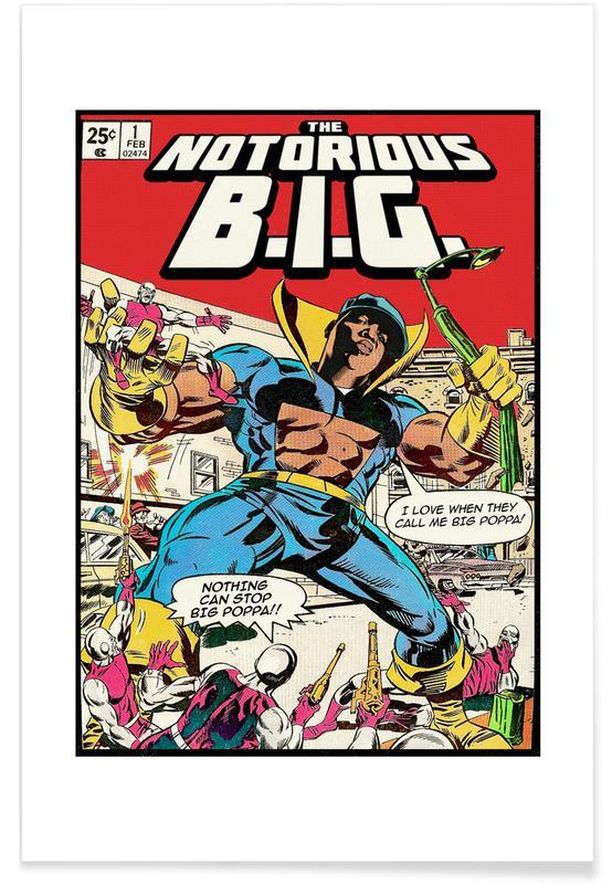 Notorious B.I.G., Pop Art, Vintage, Hip-Hop & Rap, The Notorious B.I.G affiche