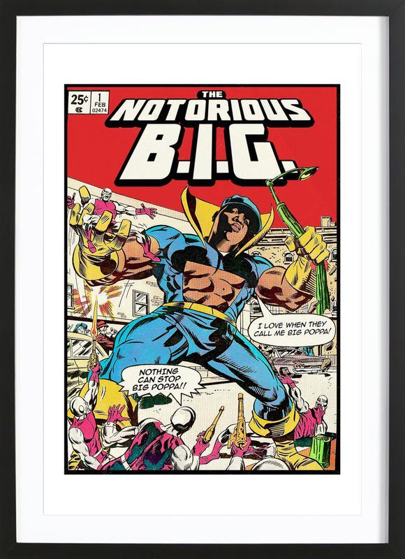 The Notorious B.I.G -Bild mit Holzrahmen