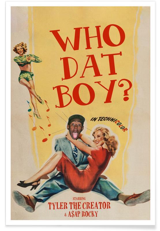 Pop Art, Vintage, Who Dat Boy affiche