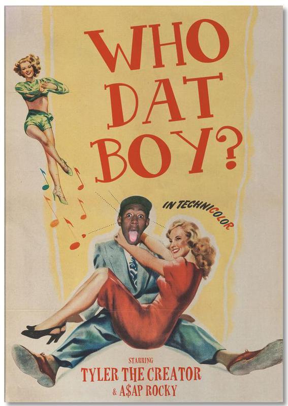 Vintage, Pop Art, Who Dat Boy bloc-notes