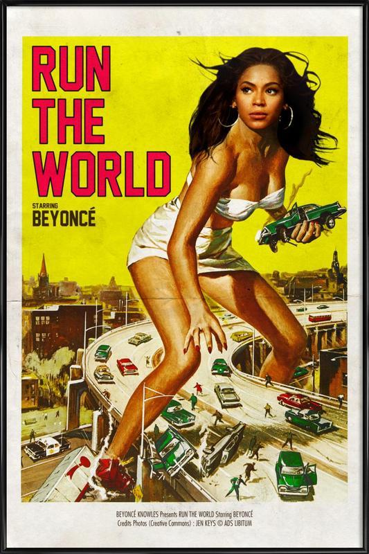 Run the World affiche encadrée