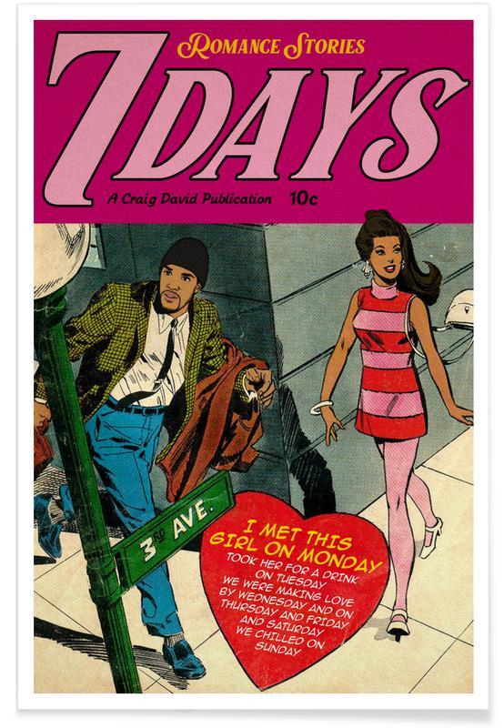 Filme, Pop Art, 7 Days -Poster