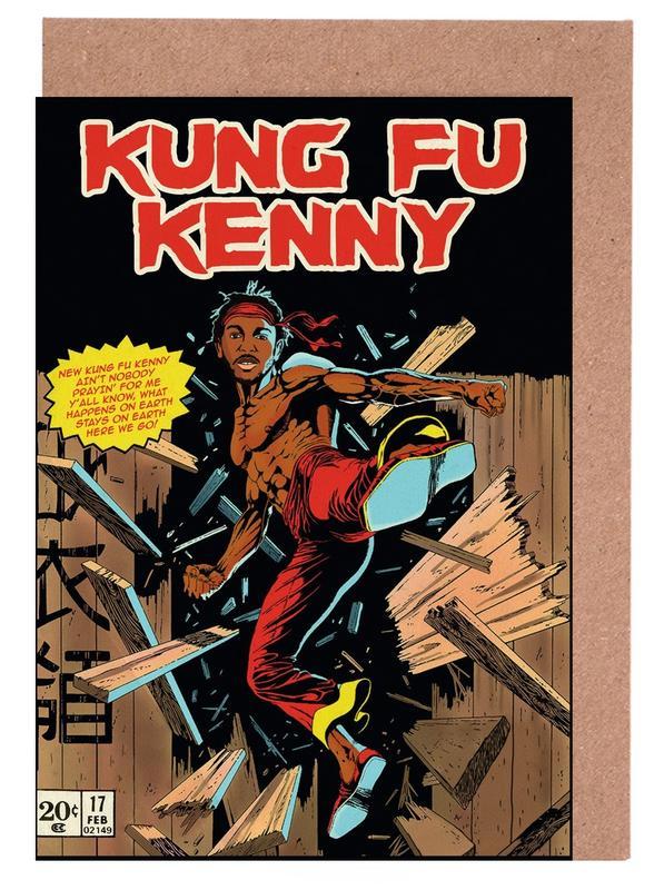 Pop Art, Films, Kung Fu Kenny cartes de vœux