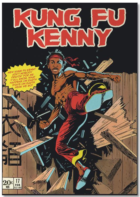 Films, Pop Art, Kung Fu Kenny bloc-notes
