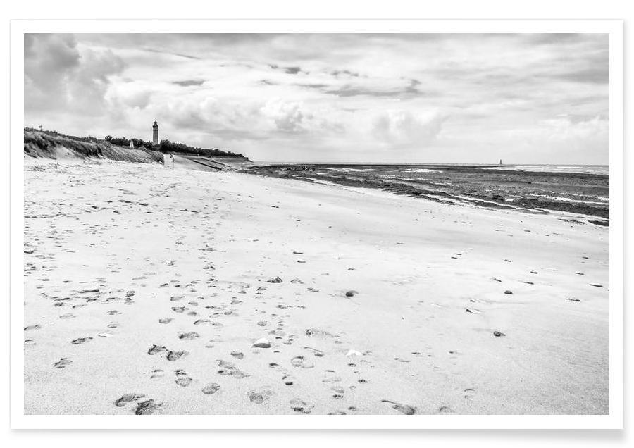 Noir & blanc, Sandy Beach affiche