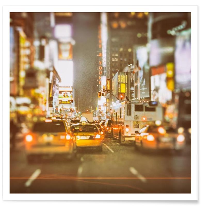 New York, Saturday Night in New York City affiche
