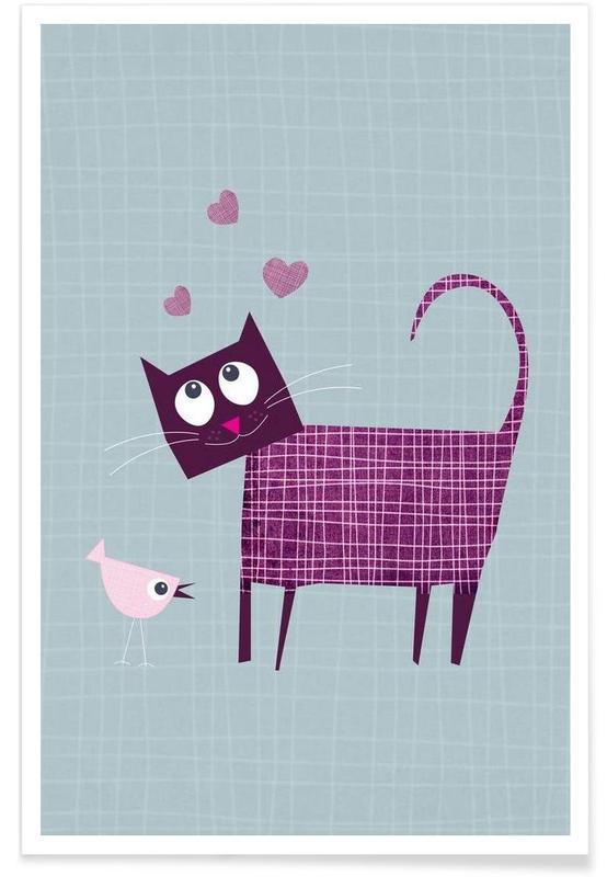 Art pour enfants, Cat Love affiche