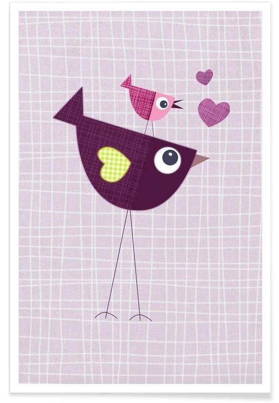 Art pour enfants, Love Birds affiche