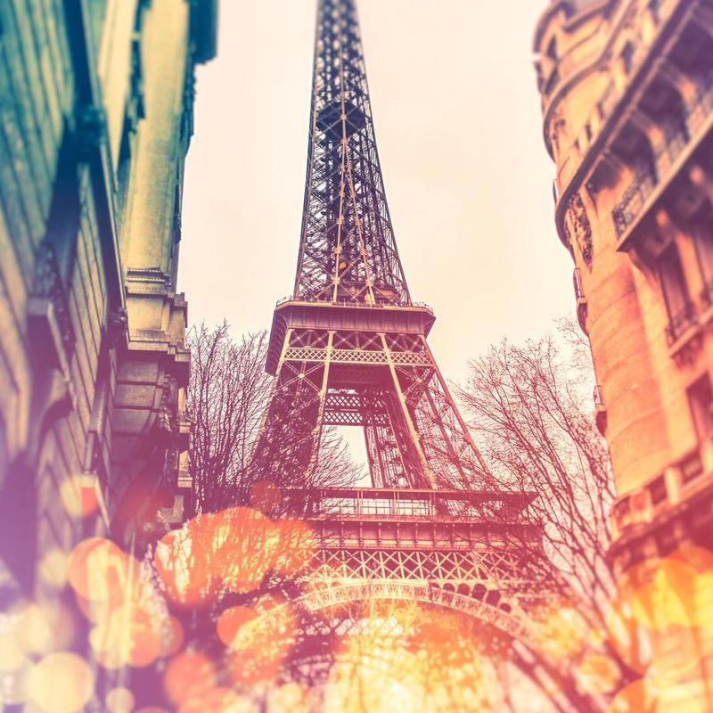 Vintage Eiffel Tower alu dibond