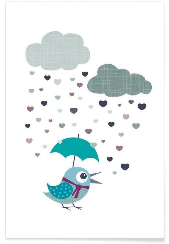Kunst voor kinderen, Rainy Bird poster