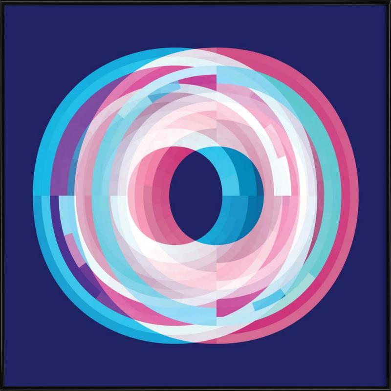 Symphony In Blue -Bild mit Kunststoffrahmen