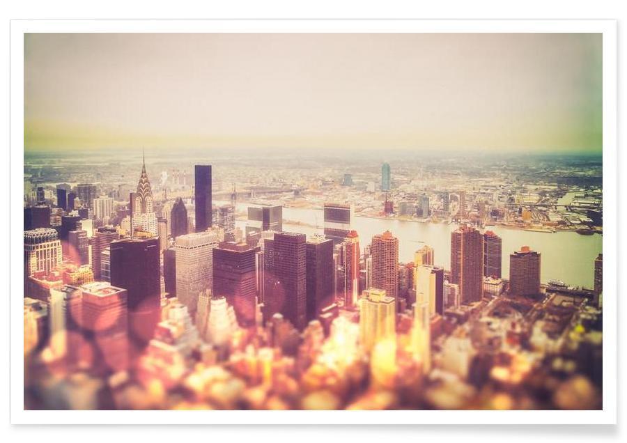 New York, Skylines, Manhattan's Skyline affiche