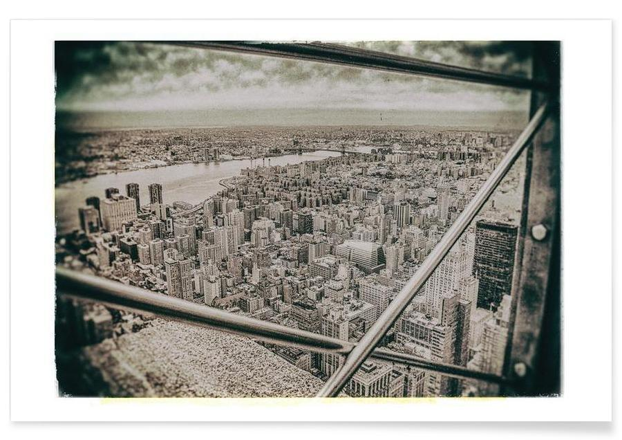 New York From the Empire State building affiche