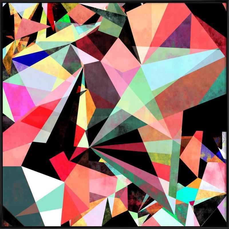 Colorflash 6 ingelijste poster