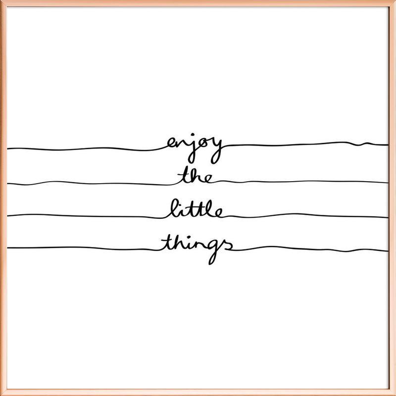 Little Things poster in aluminium lijst