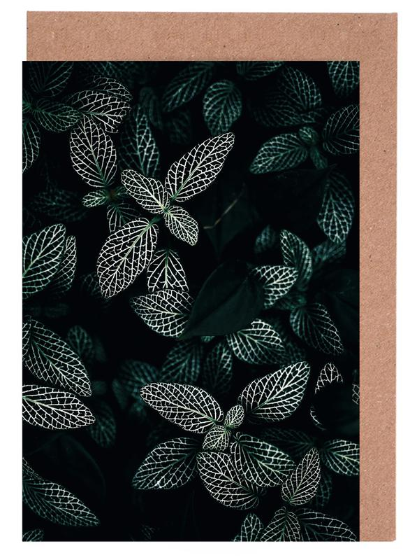 Dark Leaves 3 Greeting Card Set