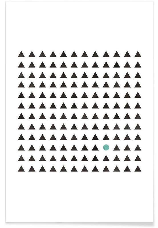 Noir & blanc, Motifs, Minimalism 1 affiche