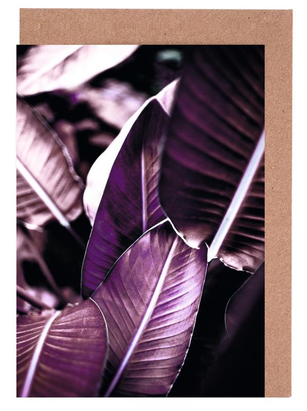 Blätter & Pflanzen, Red Leaves -Grußkarten-Set