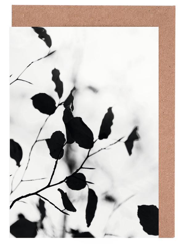 Schwarz & Weiß, Blätter & Pflanzen, Silhouettes 1 -Grußkarten-Set