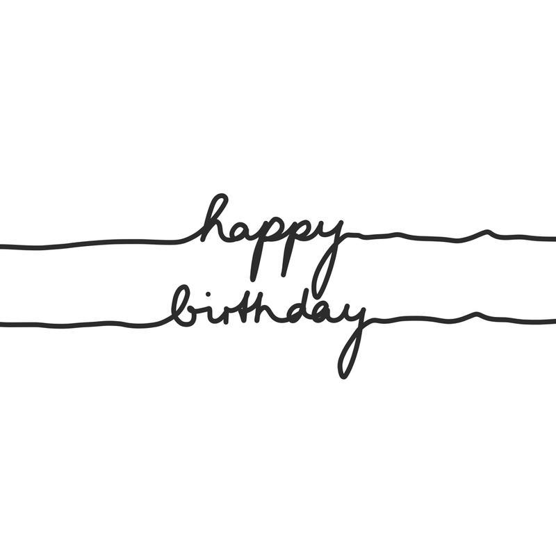 Happy Birthday Aluminium Print