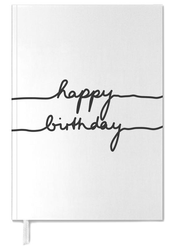 Birthdays, Black & White, Happy Birthday Personal Planner