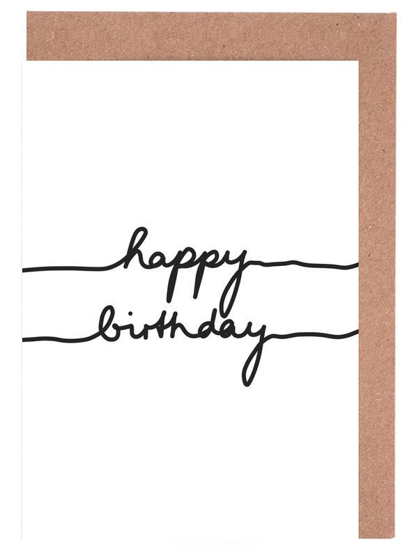 Happy Birthday -Grußkarten-Set