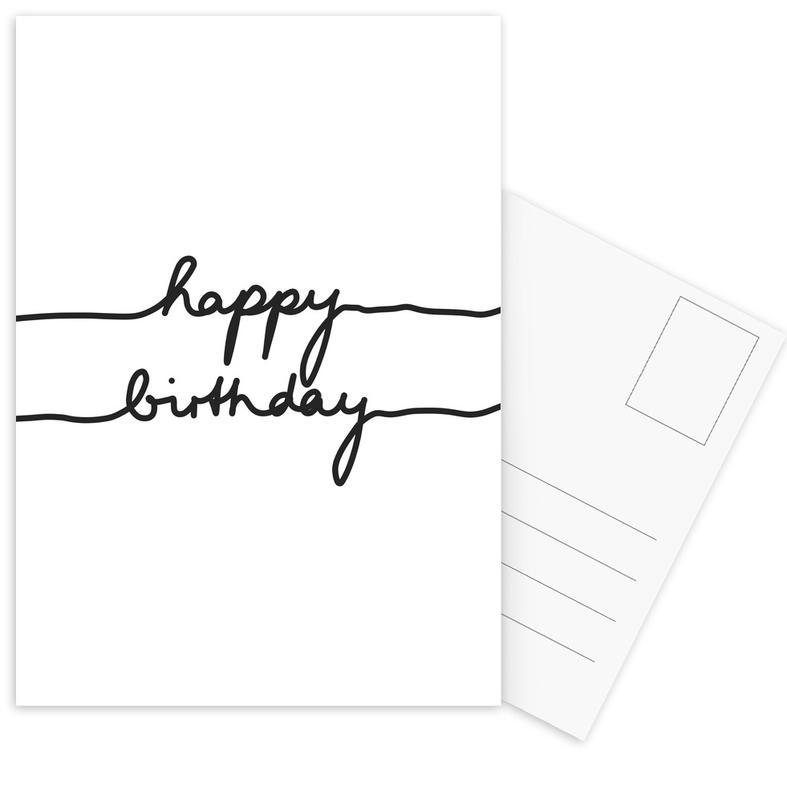 Happy Birthday -Postkartenset