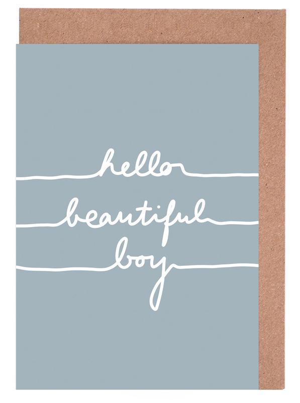 Hello Beautiful Boy -Grußkarten-Set