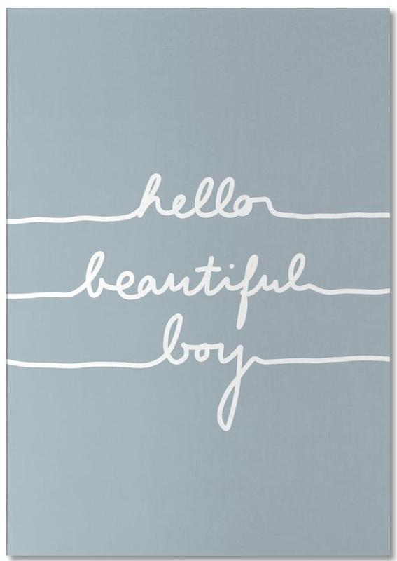 Geburt & Baby, Hello Beautiful Boy -Notizblock