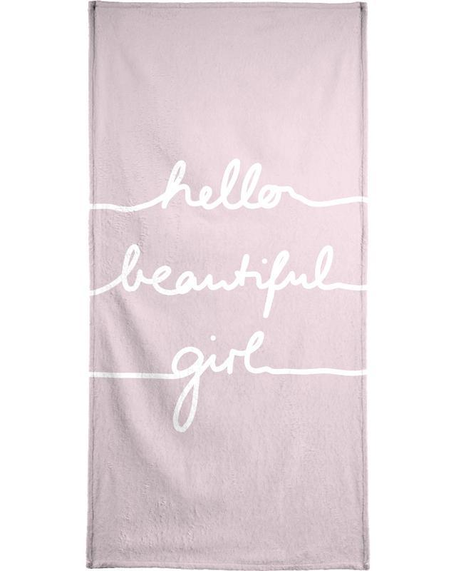 Hello Beautiful Girl Bath Towel