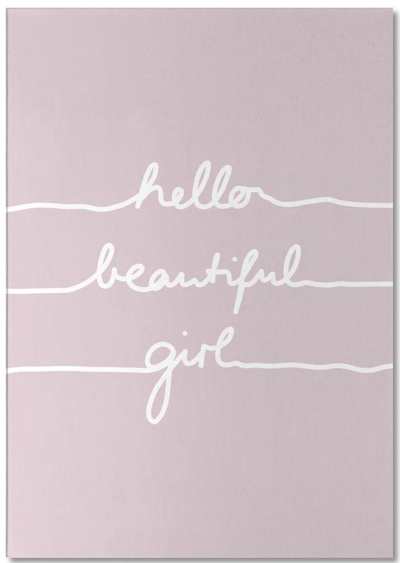 Hello Beautiful Girl -Notizblock