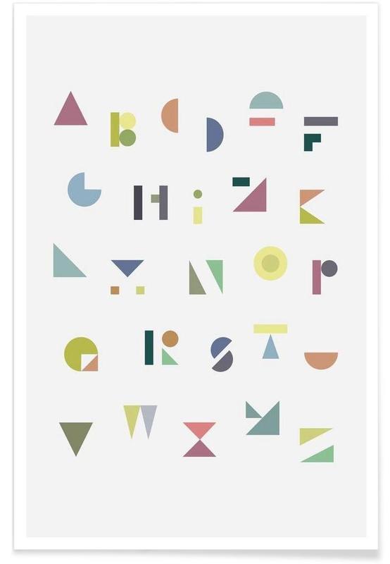 Alphabet et lettres, ABC colorful affiche