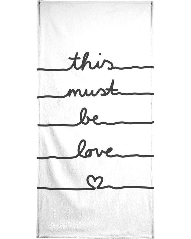 Liebe & Jahrestage, Schwarz & Weiß, This Must Be Love -Strandtuch