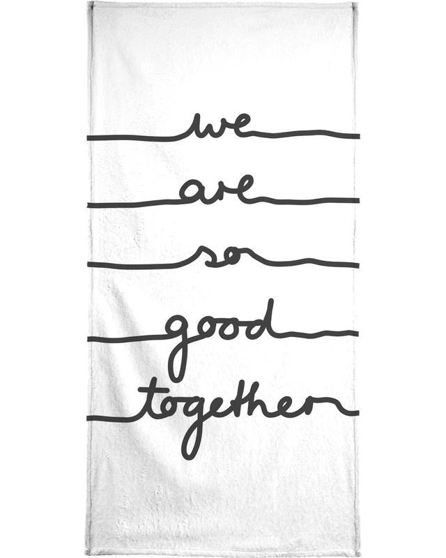 Jubileums en liefde, Valentijnsdag, Zwart en wit, We Are So Good Together strandlaken