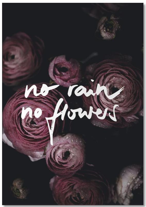 No Rain No Flowers Notebook