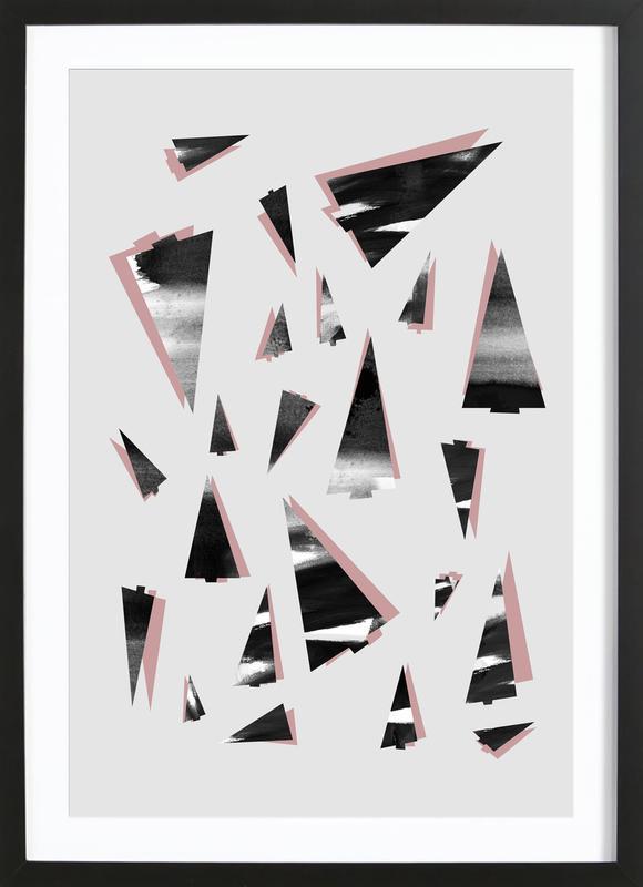 80's Trees Framed Print