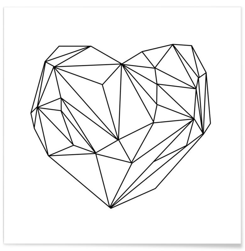Coeur graphique affiche
