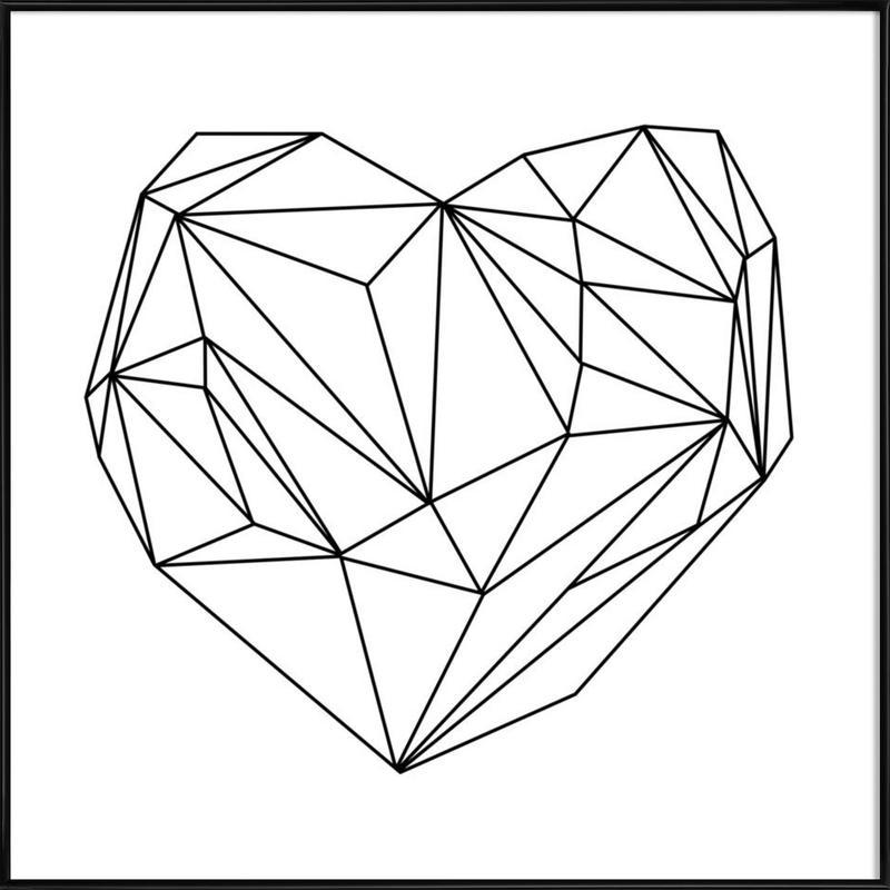 Heart Graphic Poster i standardram