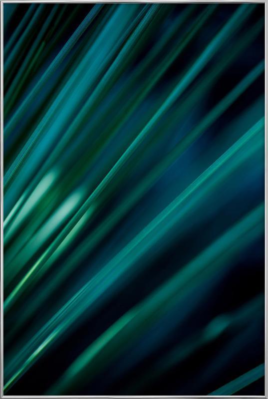 Green Straws 1 poster in aluminium lijst