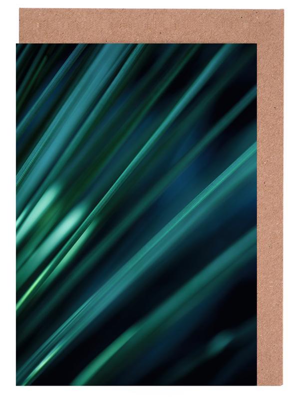 Green Straws 1 Greeting Card Set