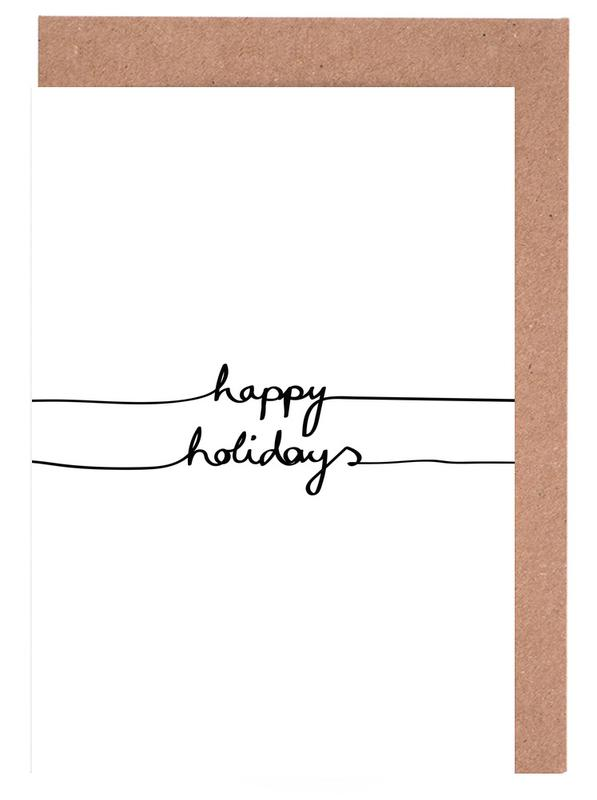Holidays 1 - Happy Holidays Greeting Card Set