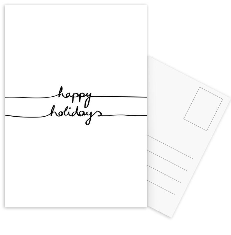Holidays 1 - Happy Holidays Postcard Set
