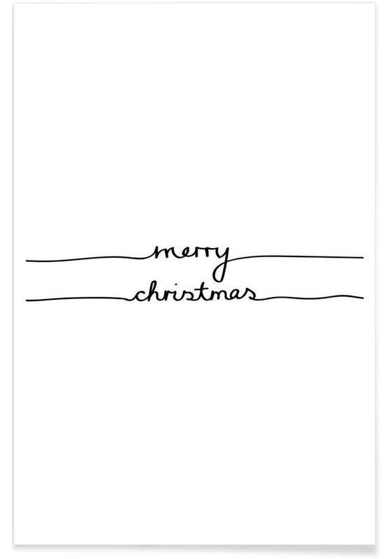 Noël, Noir & blanc, Joyeux Noël affiche