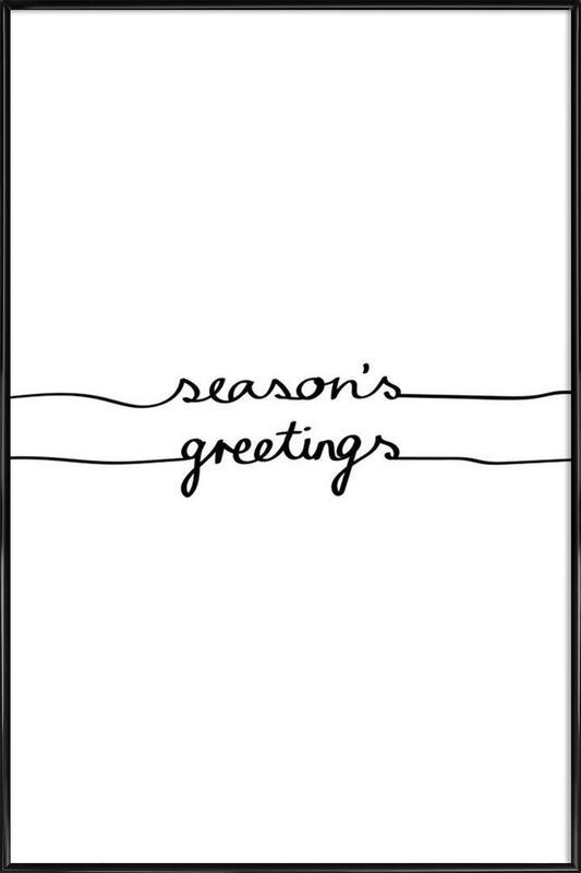 Holidays 1 - Seasons Greetings Framed Poster