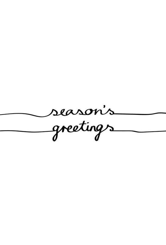 Holidays 1 - Seasons Greetings Aluminium Print