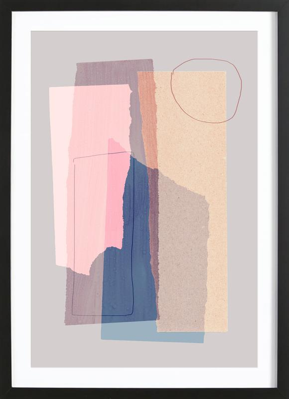 Pieces 5A ingelijste print