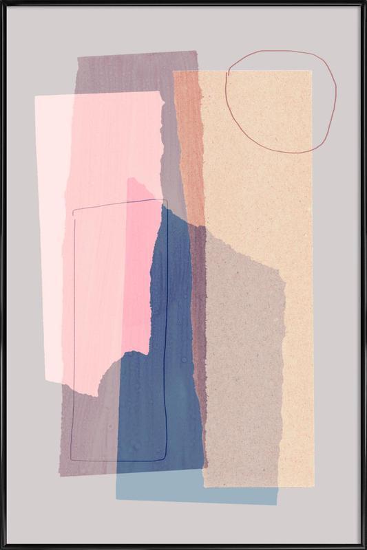 Pieces 5A -Bild mit Kunststoffrahmen